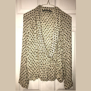 Trafaluc Wrap Blouse, Size Medium